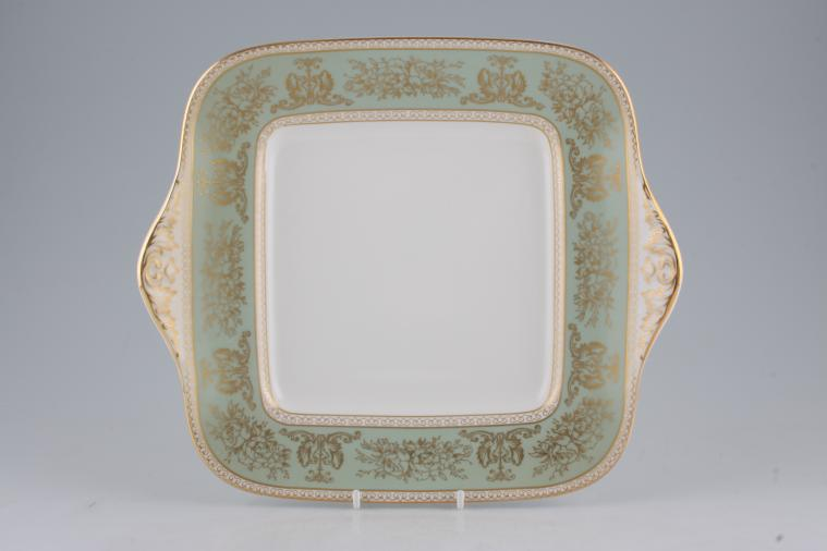 Wedgwood - Columbia - Sage Green - Bread + Butter Plate - Square