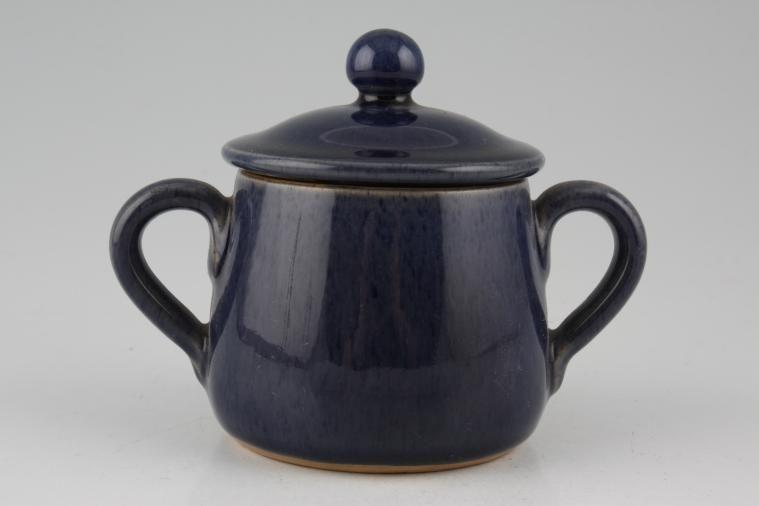 Bourne - Cottage Blue - Chocolate Pot + Lid - 2 handles-lidded