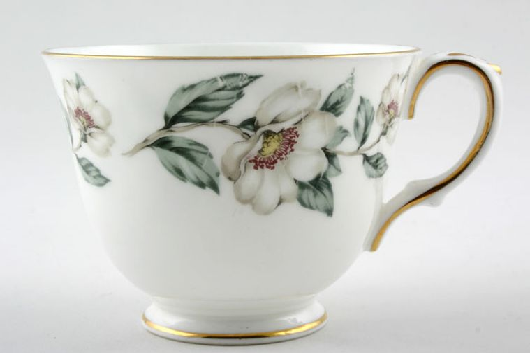Crown Staffordshire - Christmas Roses - Plain Edge - Teacup - Bell