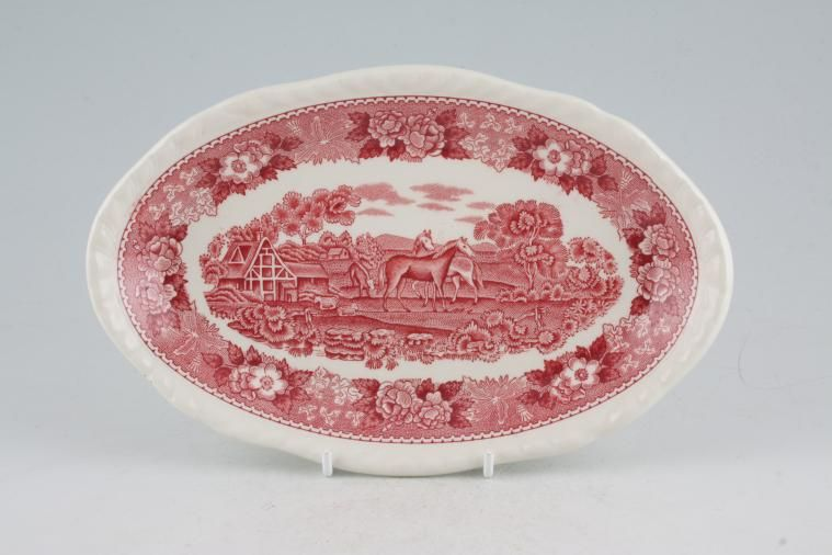 Adams - English Scenic - Pink - Sauce Boat Stand