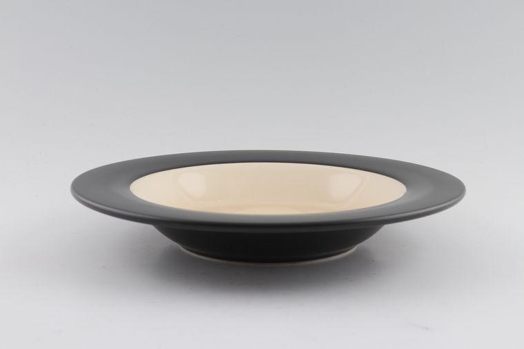 BHS - Graphite - Sand - Rimmed Bowl