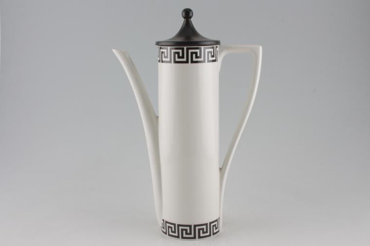 Portmeirion - Greek Key - White + Black - Coffee Pot