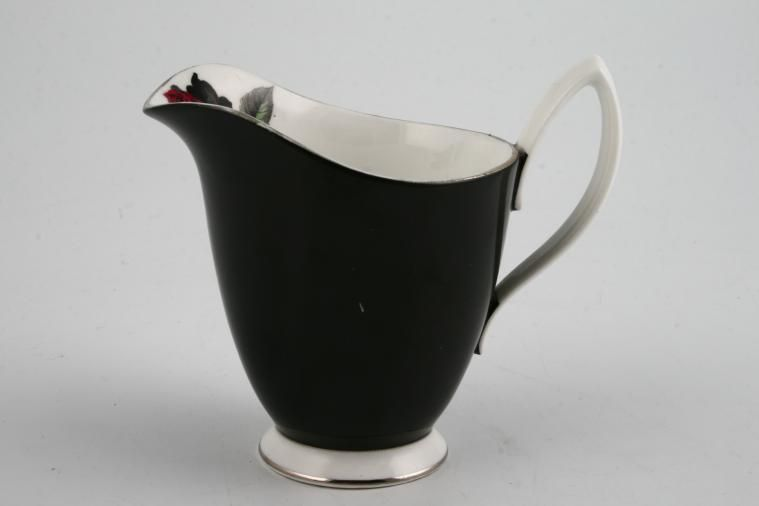 Royal Albert - Masquerade - Milk Jug - black with silver edge