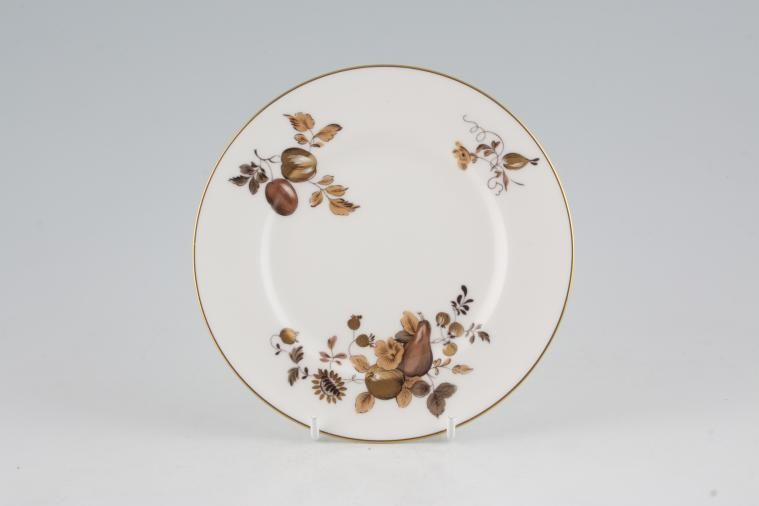 Royal Worcester - Golden Harvest - White - Tea / Side / Bread & Butter Plate - plain edge