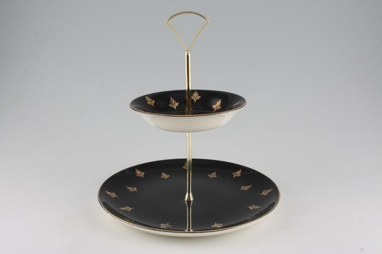 Various - Cake Stands - Cake Stand - 225 - 2 tier Royal Albert 9'' base plates