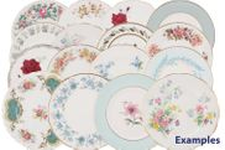 Various - Vintage Tea - Set of Tea Plates - V424 - 6 x Vintage style tea plates, mixed patterns