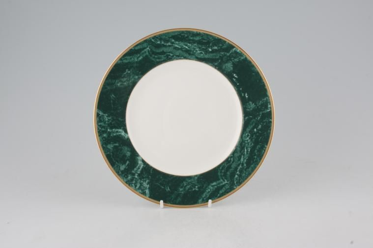 Wedgwood - Chorale - Starter / Salad / Dessert Plate - Accent- wide green border